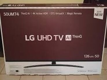 ТВ и видео в Азербайджан: LG 50 UM 7450 (126cm). 1 il rəsmi zəmanət. Yenidir və satış mağazadan