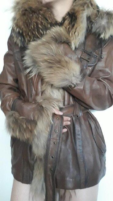 Jakna sa krznom - Srbija: Kozna jakna sa prirodnim krznom