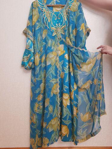 Красивое платья (хиджаб)атлас + шифон,производство Дубаи. Носила 2