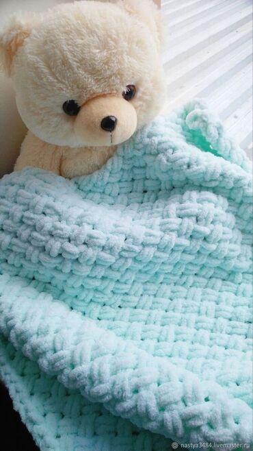 Вязаное вручную пуховое одеяло Alize Подарите своему малышу повод для