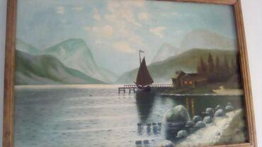 Антиквариат - Кыргызстан: Картина -маслом на холсте,,размер-130/90 см.,цена7500 сомов