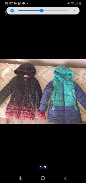 Курточки 2шт-зимние,2шт легкие на 7-6-8лет+вещи для девочек,состояние