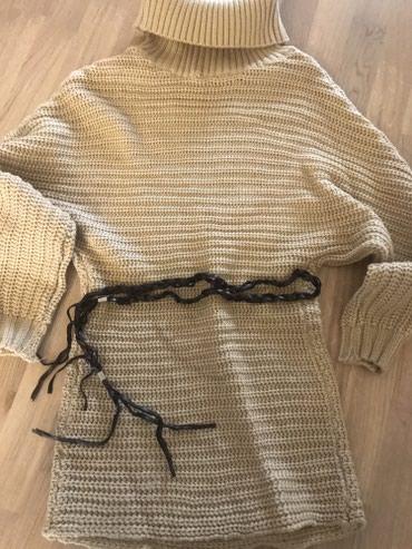 розовый свитерок в Кыргызстан: Стильный теплый свитерок! Размер свободный!
