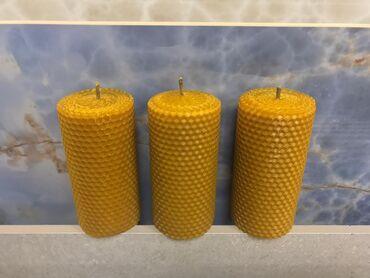Продаю Медовые свечи из вощины.Размер : Высота 12.5 см. Толщина 6 см