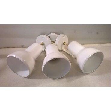3 φωτιστικά σποτ αλουμινίου λευκά  Καινούργια