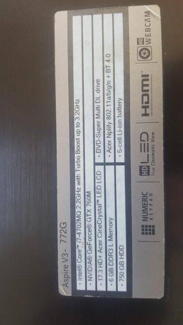 Продаю ноутбук acer aspire v3-772G в идеальном состоянии 700$ в Бишкек