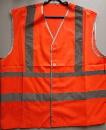 Другая мужская одежда в Кыргызстан: Жилет х/б сигнальный на пуговицах оранжевыйЖилет сигнального