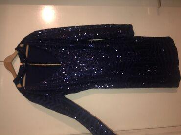 Plava svetlucava haljina
