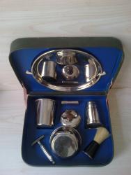 бальзамы лосьоны после бритья в Азербайджан: Антикварный набор. Большой мужской набор для бритья в коробке. В
