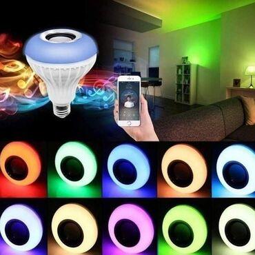Rasveta   Pancevo: Led RGB Bluetooth sijalica sa zvucnikomCena 1550 dinaraSvetli u ritmu