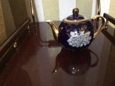 Bakı şəhərində продаю кобальтовую заварной чайник; 24 голд. цена 30 ман.