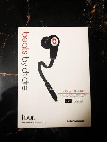 Аудиотехника - Бишкек: Наушники Monster Beats by Dr Dre Tour BlackMonster Beats by Dr Dre