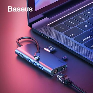 sound card - Azərbaycan: Original Baseus firmasi Universal Type-c adapter 3 eded Usb 3.0 port 1