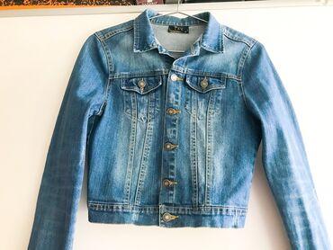Джинсовая куртка женская. Размер: S- свободный. Цвет: темно синий. 100