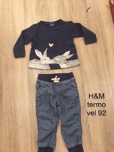 Farmerke-vl - Srbija: TOM TAILOR duks + H&M termo farmerke od mekanog teksasa za