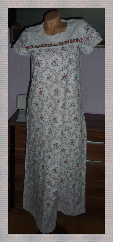 Ženska kućna odeća - Subotica: BELA MAXI PAMUCNA SPAVACICA KAO NOVA VEL 38širina ramena 35cmširina