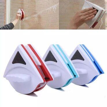 Щетка магнит для мытья окон - Кыргызстан: Магнитная щетка для мытья окон с двух сторон (стекло 15-26 мм) +беспла
