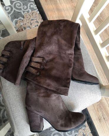обувь в Кыргызстан: Деми сапоги-ботфорты. Размер 36. Отличное состояние, носила пару раз