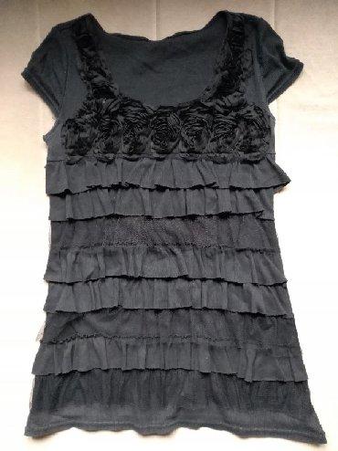 Crna-tunika - Srbija: Maica/tunika/bluza. Crna. Prelepo pada i prekriva nedostatne