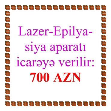3534 elan: Lazer-epilyasiya cihazı (FQA 20-4) arendaya verilir: 700 AZN/ay. Yaxşı