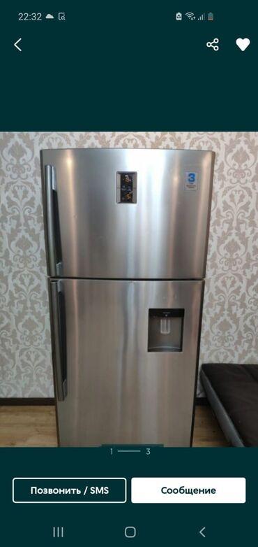 Новый Двухкамерный Серебристый холодильник Samsung