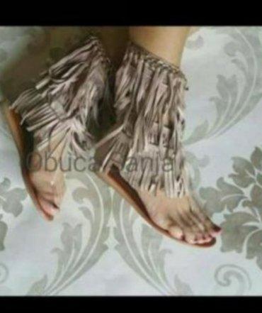Prelepe kvalitetne preudobne sandale sa resama br 38 prelagane - Belgrade