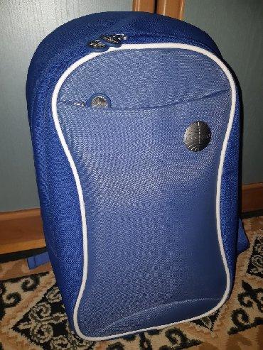 Сумки - Бишкек: Срочно продаю новый синий рюкзак одной из крупнейших авиакомпаний в