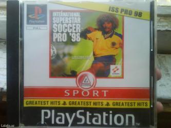 Bakı şəhərində Playstation 1 ucun kitaiski futbol 98 oyun diskini satiram