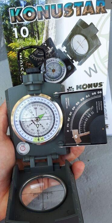 Nov kompas, Konus Konustar 10. Pogodan je za korišćenje u