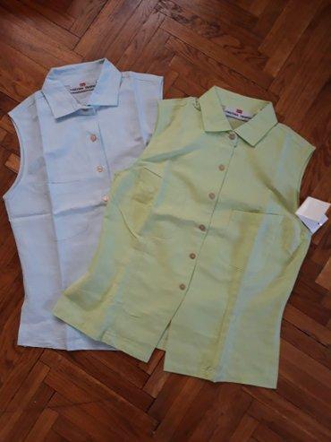 Lanene bluze-kosulje, potpuno nove. Nebo plava i svetlo zelena-kivi - Belgrade