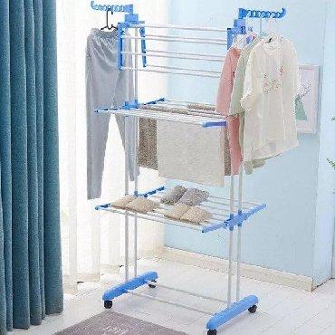 сушилка для вещей в Кыргызстан: Многофункциональная мобильная сушилка вешалка для одежды и обуви 🥼🥿🥾 О
