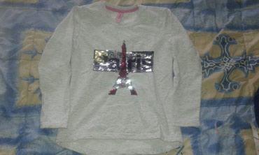 Bluza topla za devojcice br.134 ili 10, nosena moze jos da se nosi - Smederevo