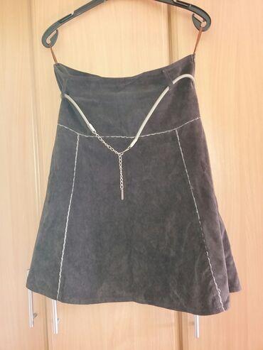 Suknja duzina - Srbija: Somotska suknja Lifeflowers XL  Suknja za jesen/zimu od sitnog somota