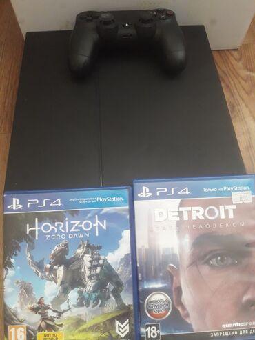 Playstation 4Отличное состояние 2 диск Джойстик Оригинал Hdmi кабель