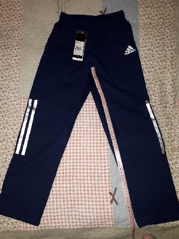 adidas zhiletka в Кыргызстан: Детские спортивные штаны Adidas Climacool оригинал на мальчиков: 1)