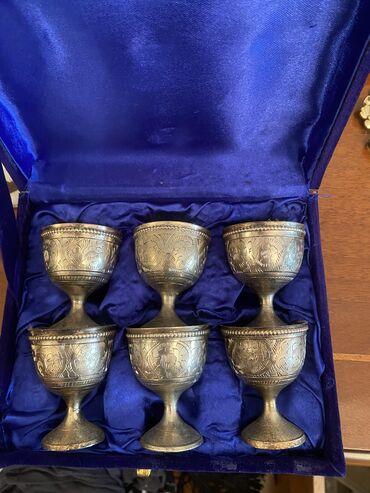 3129 объявлений: Старинные мельхор стаканы и монета медная Македонского с кольцом очень