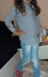 Dečija odeća i obuća - Indija: Kosulja Pepito vel.4rukavi mogu da se podavrnuplave boje(od blica