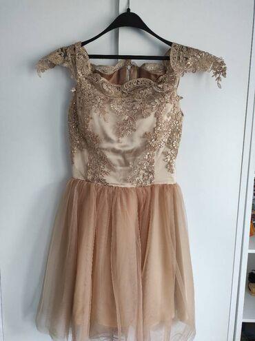 Svečana haljina  •unikat •saten,čipka,til (materijal kupljen u italiji