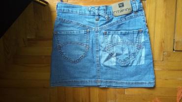 Mini teksas suknjica,velicina S,potpuno nova. lepaaa - Batocina - slika 2