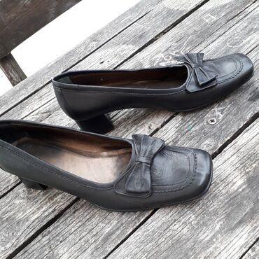 Crne kožne cipele, br 41/42, kao nove, ručna izrada, izvanredne, piše