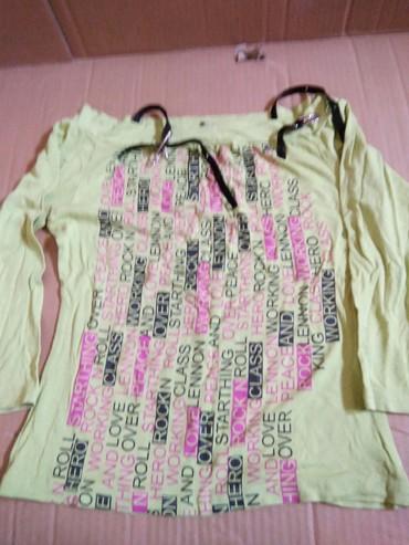 Кофта бретельки ремешки.мягкий текстиль,очень красиво сидит,рукова3/4 в Бишкек