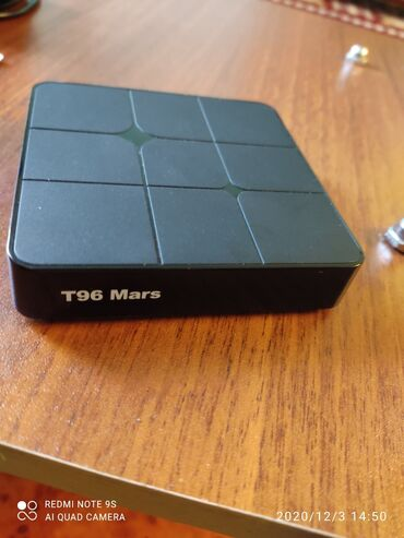 Tv box T96 Mars adi televizoru smart edir 1 il deyil aldığım smart