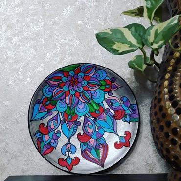сувениры в Кыргызстан: Тарелочки настенные из керамики ручной работы. Сувениры, подарки.Мы