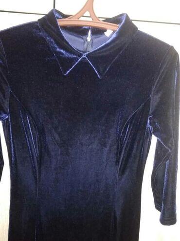 женское платье из турции в Кыргызстан: Продаю ПЛАТЬЕ женское 46-48размера Бархат-Турция. В отличном