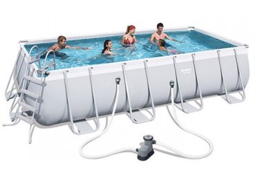 Навес для бассейна - Кыргызстан: Бассейн каркасный бассейн прямоугольный BestWay арт. 56465, купить в