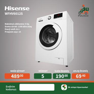 sense-6-for-htc-one-x в Азербайджан: Фронтальная Автоматическая Стиральная Машина Hisense 6 кг