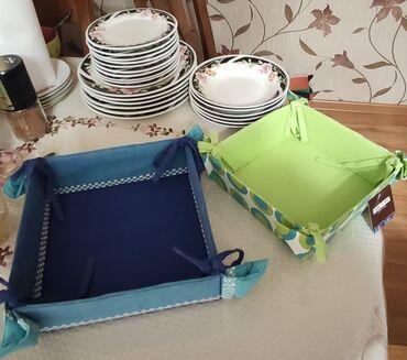 тарелка блюдце в Кыргызстан: Набор тарелок из сервиза новые разные. Постановочные тарелки 6 шт.под