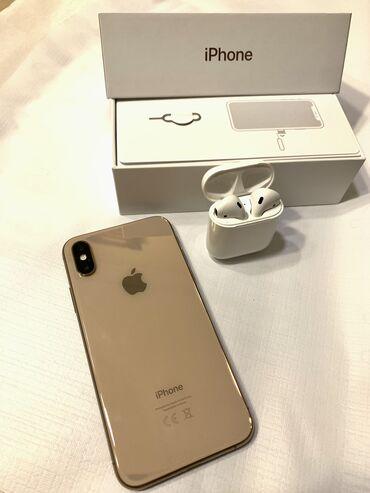 11151 elan: IPhone Xs | 256 GB | Qızılı İşlənmiş | Face ID, Sənədlərlə