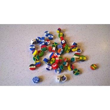50 χρωματιστές χάντρες, αχρησιμοποίητες