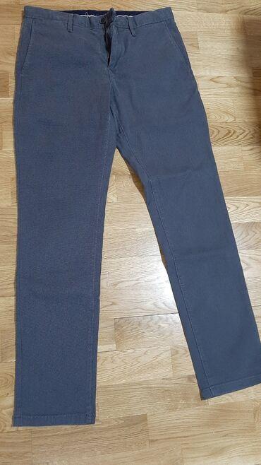 Bez pantalone broj - Srbija: Tommy Hilfiger pantalone,tamno sive, bez manaBr 32,original Poluobim